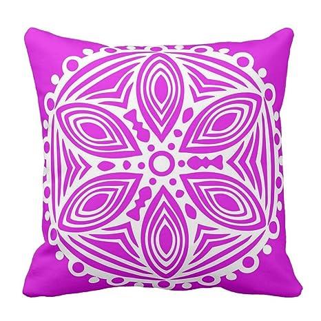 Custom decorativa fundas de cojín caliente rosa fucsia y ...