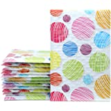 "Mailer Plus #000 4x8"" 50pcs Colorful Dot Poly Bubble Mailers Padded Envelopes Boutique Custom Bags"