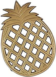 DII Gold Pineapple Trivet, Silver
