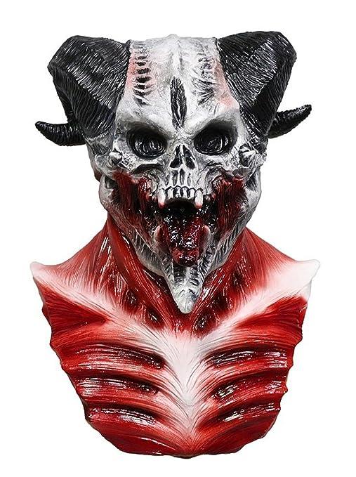 amazon com comlzd cave demon skull mask skeleton blood goat sucker