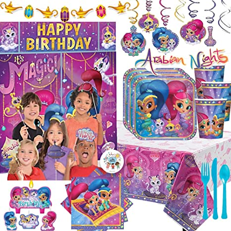 Amazon.com: MEGA Shimmer and Shine - Pack de 16 servilletas ...