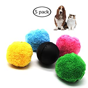 Magic Roller Ball Toy Automatic Roller Ball Magic Ball for Dog 1 Rolling Ball 4 Color Ball Cover Cleaning Home Dog Toys Balls