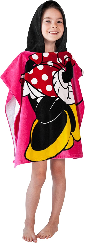 Disney Minnie Mouse Towel Hooded Poncho Bath Beach Girls