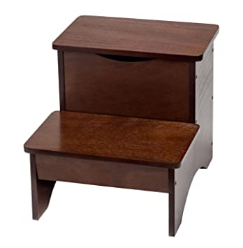 Bon Wooden Step Stool With Storage By OakRidgeTM