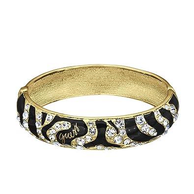 3284ce3a1f00 Guess - UBB70233 - Wild Heart - Bracelet Femme - Métal doré - Noir ...