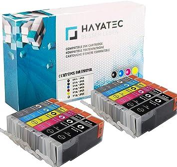 alask aprint Cartuchos de Impresora Compatible para Canon pgi-570 XL + cli-571 XL PIXMA MG 5700 Series MG 5750 Series, Color 12er Set