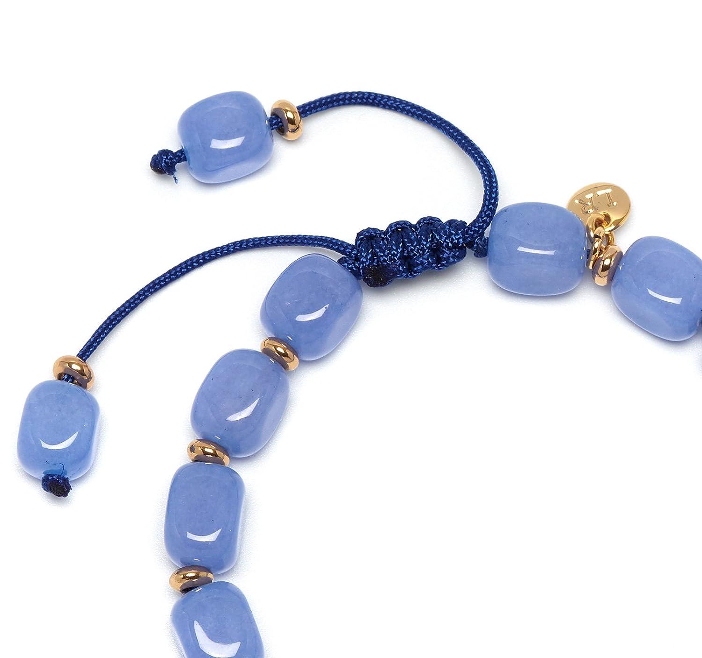 Lola Rose Women Blue Quartz Strand Bracelet of Length 18cm 716413 0Nhi8