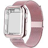 YC YANCH 兼容苹果手表腕带 38mm 40mm 42mm 44mm,软硅胶运动表带替换腕带,适用于 iWatch 苹果手表系列 4/3 / 2/1,Nike+,运动版,S/M M/L 尺寸