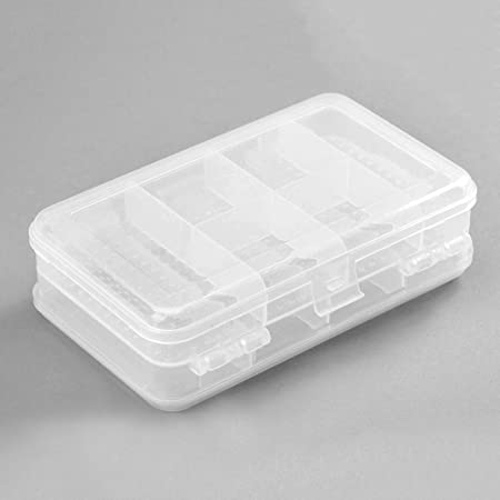 1pc 10 Slots Travel Clear Organizer Container Plastic Jewelry Beads