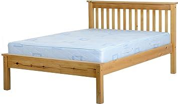 Seconique Monaco 4 Feet 6 Inch Bed Low Foot End Antique Pine