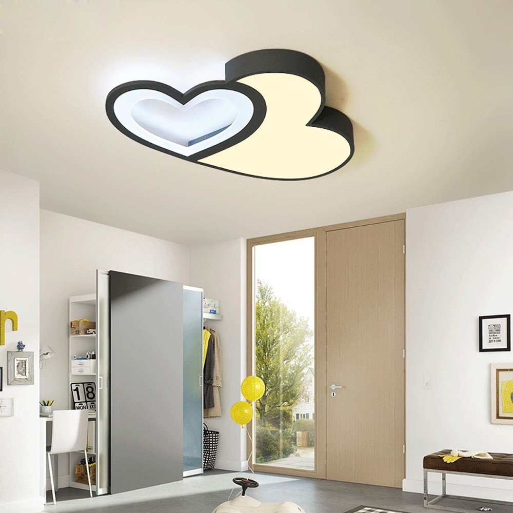 Amazon.com: Led Ceiling Lights Double Love Shape for Living Room ...