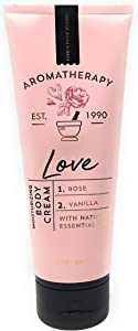 Bath and Body Works Aromatherapy LOVE - ROSE + VANILLA Body Cream 8 Ounce