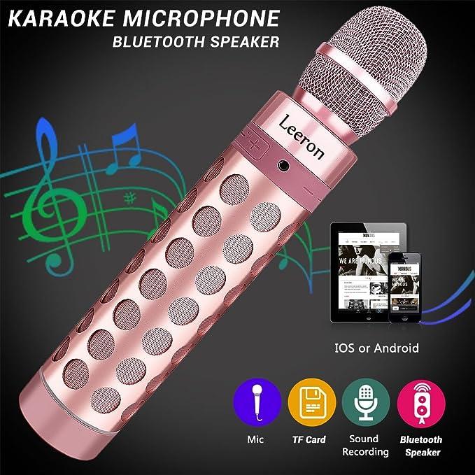 29 opinioni per Microfono senza fili Bluetooth, Altoparlante microfono Karaoke Bluetooth