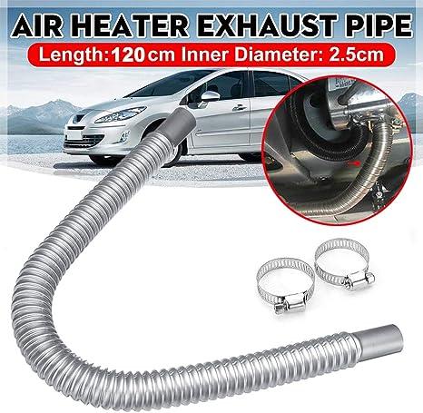 HEXIN INC 47 pouces tuyaux d/échappement de voiture en acier inoxydable tuyau flexible tuyau d/échappement accessoires de chauffage de voiture