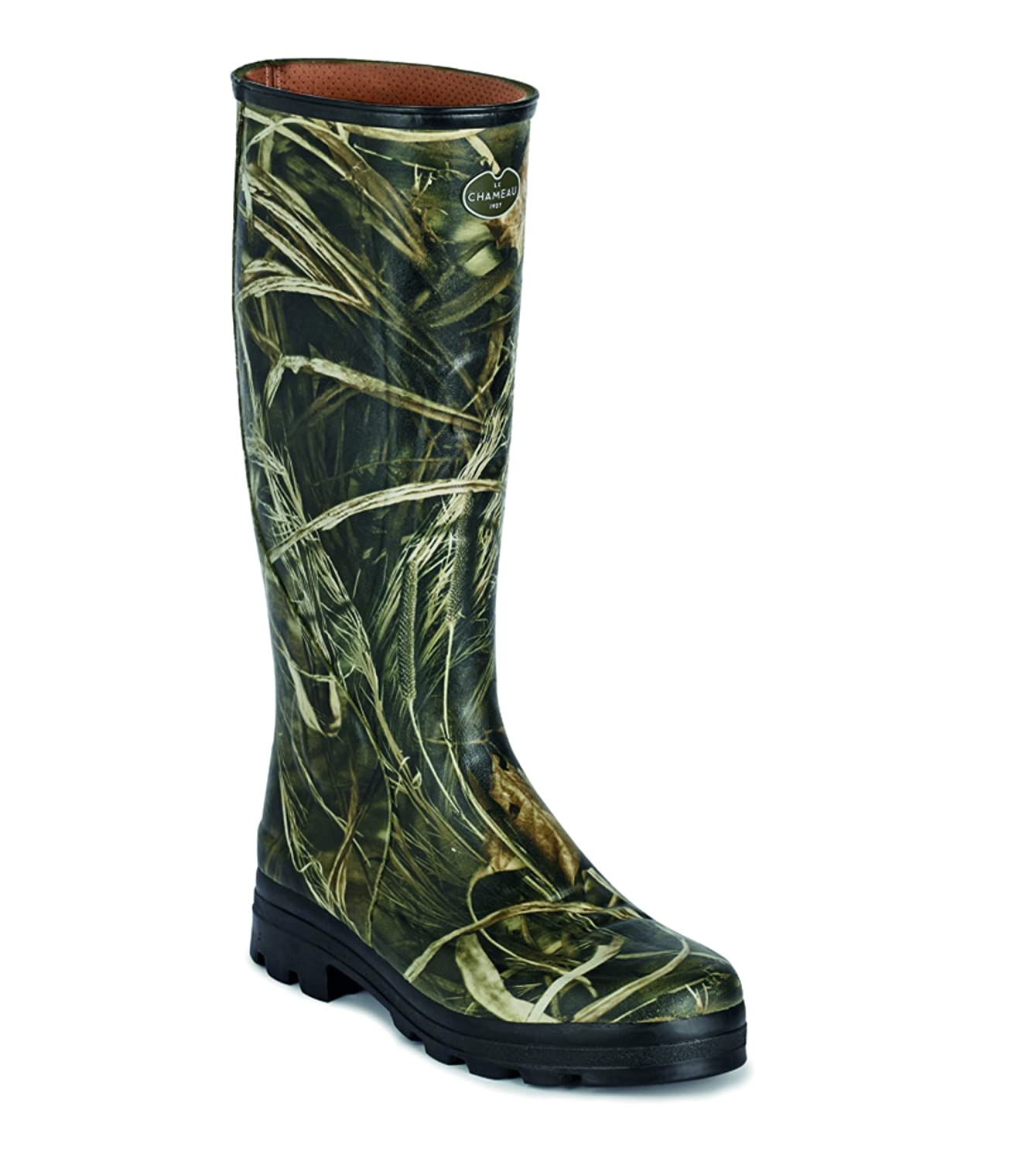 33f23d52778 Le Chameau Mens Country Boot Traqueur - Woodland Camo 41, olive ...