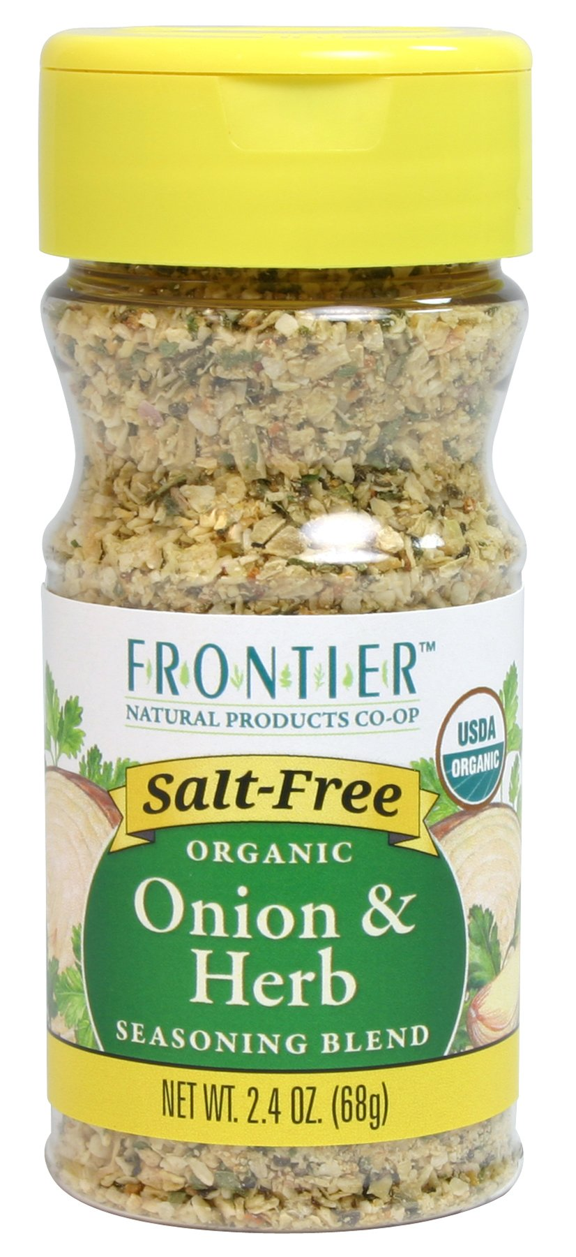 Frontier Salt Free Organic Seasoning, Onion and Herb, 2.4 Ounce
