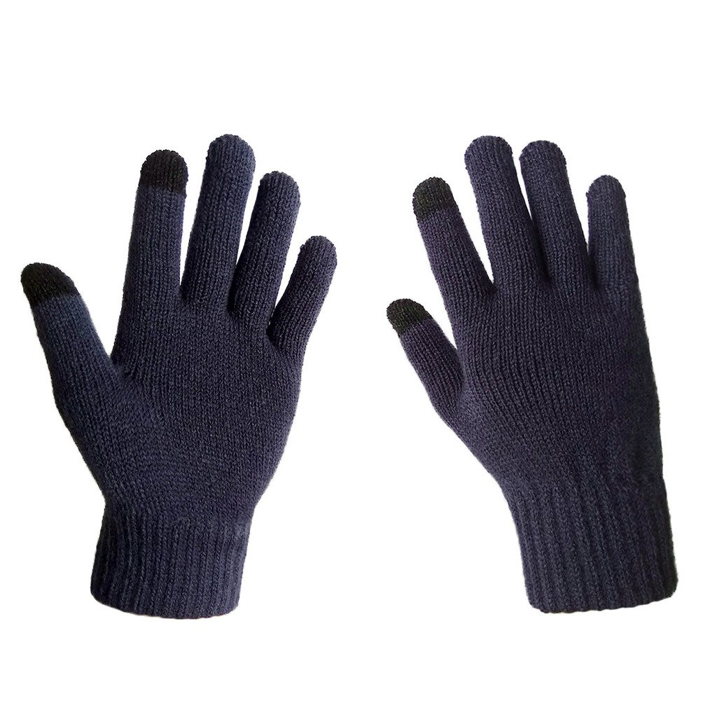 LETHMIK Womens Solid Magic Knit Gloves Winter Wool Lined with Touchscreen Fingers knit gloves women