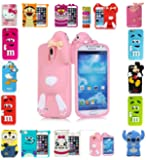 EAGLE® New 3D Kids Cartoon Disney Silicone Rubber Gel Back Case For Apple iPhone 5 5s (Pink Rabbit Buck Teeth)