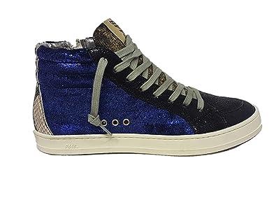 43fbe414d793cc P448 Damen Sneaker High Velvet Roy Blau Schwarz  Amazon.de  Schuhe ...