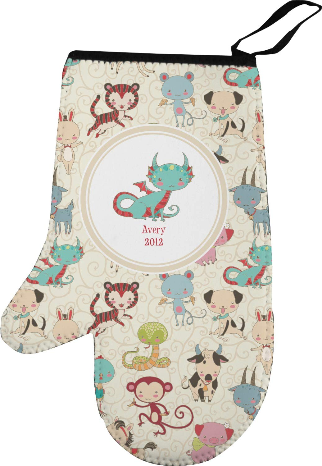 RNK Shops Chinese Zodiac Left Oven Mitt (Personalized)