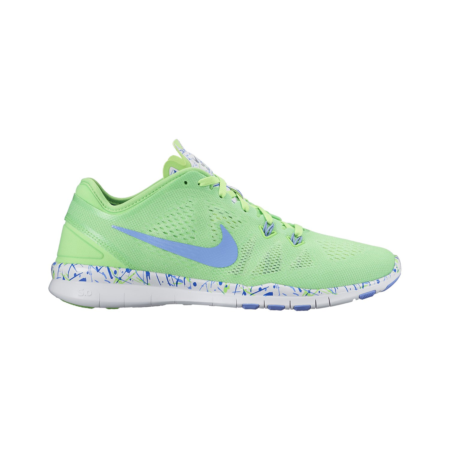 a99a92a4cf02df Galleon - NIKE Womens Free 5.0 TR FIT PRT Running Shoes Voltage Green White Chalk  Blue 704695-301 Size 6