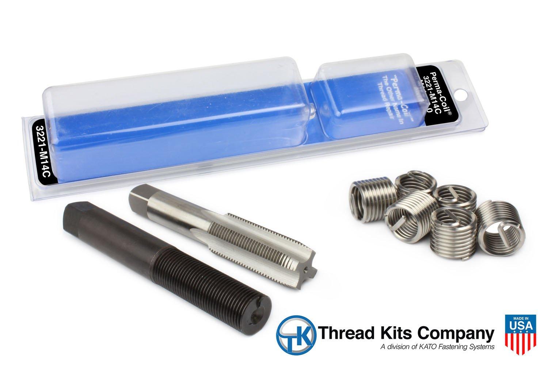 Perma Coil 3221-M14C Metric Thread Repair Kit M14X2 6PC Helicoil 5403-14