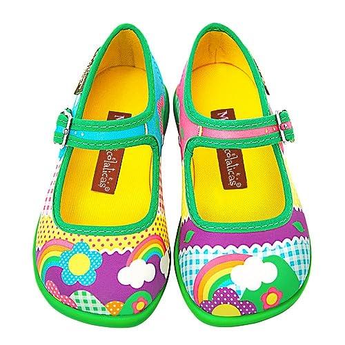 18d06f692 Hot Chocolate Design Mini Chocolaticas Kinder Girls Mary Jane Flat  Multicoloured HCD 22