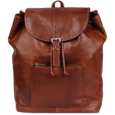 Amazon.com | Wilsons Leather Mens Rugged Leather Backpack Brown ...