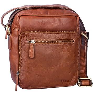 64fa5adce5b34 STILORD  Nathan  Umhängetasche Herren Leder klein braun Vintage  Herrentasche 10