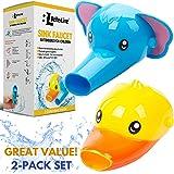 Rubinetto Extender per bambini–Set di 2animali estensori per rubinetti lavello lavaggio a mano–babies bambini (elefante + anatre)