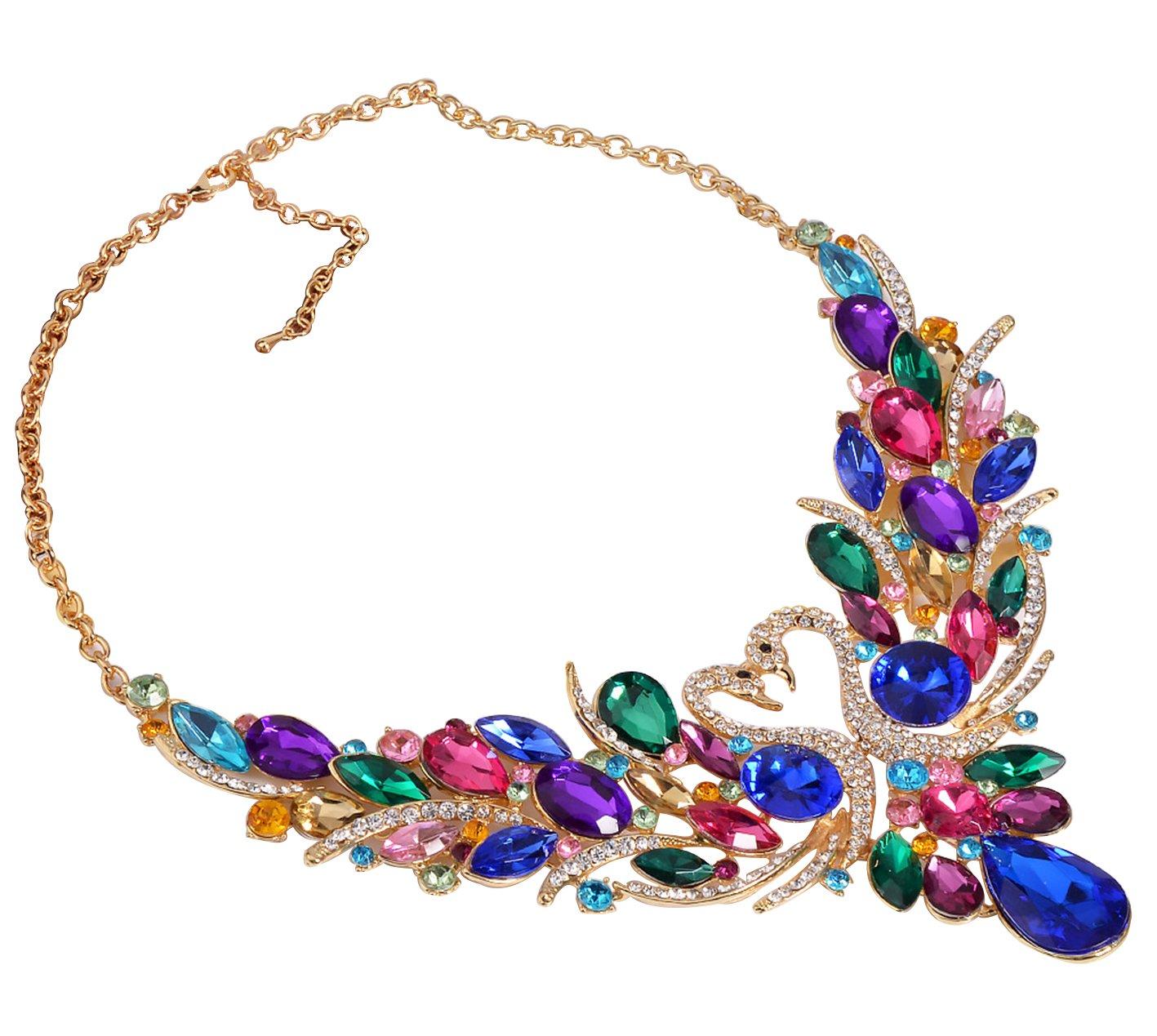 SEKAISORA Fashion Elegant Fine Diamond Necklace Temperament With Swan Set jewelry Set Chain by SEKAISORA (Image #2)