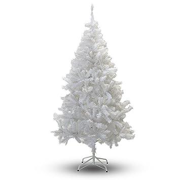 Charming Perfect Holiday Christmas Tree, 7 Feet, PVC Crystal White