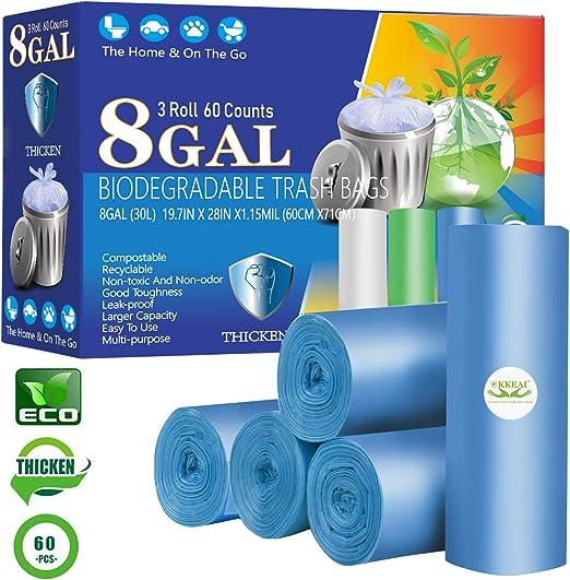 Amazon.com: Bolsas de basura biodegradables de 8 galones ...