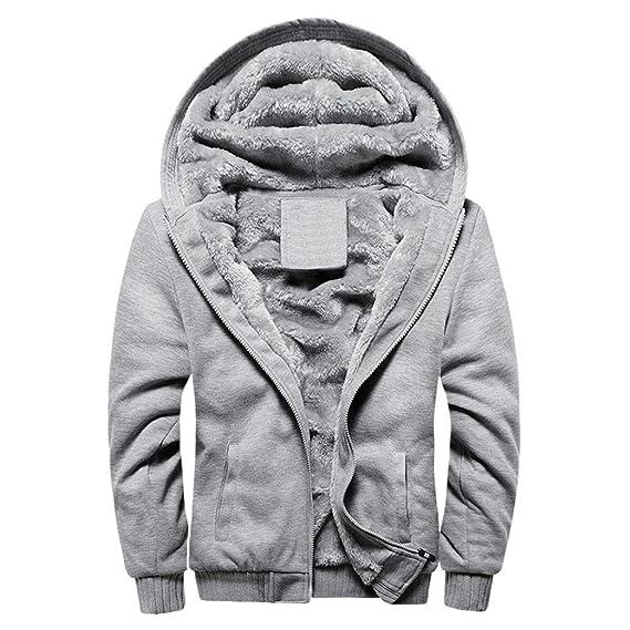 3dc1a8d7b Amazon.com: Hot Sale!Todaies Mens Hoodie Winter Warm Fleece Zipper Sweater  Jacket Outdoor Hooded Sports Coat Clothing (M, Gray): Watches