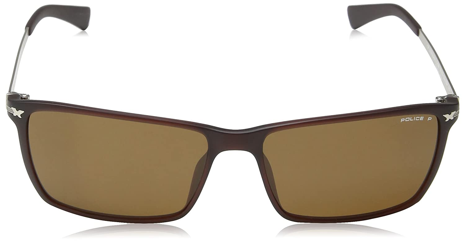 Police Men's S1957 Sunglasses, Brown (Matt Intermediate Brown), One Size:  Amazon.co.uk: Clothing