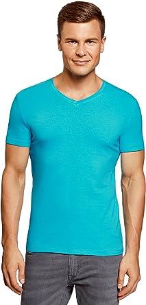 oodji Ultra Hombre Hombre Camiseta Básica (Pack de 3): Amazon.es ...