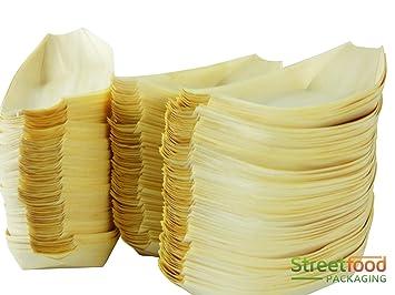 Streetfood Packaging Einweg Teller Aus Bambus Aus Holz Biologisch