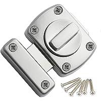 Extra deurslot, deurvergrendeling, badkamer, roestvrij staal, draaigreep, vergrendelingsslot, kast, deur, slot…