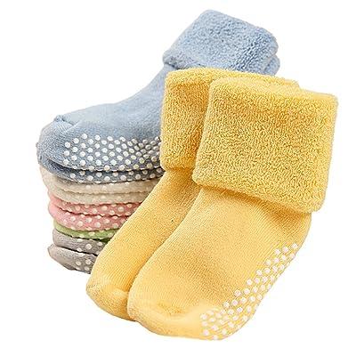 Unisex Baby Girls Boys Toddler 6 Packs 0-36 Months Newborn Socks (S)