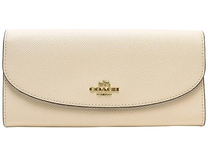e4b6526d7710 Coach Crossgrain Leather Slim Envelope Wallet - F54009 (White ...