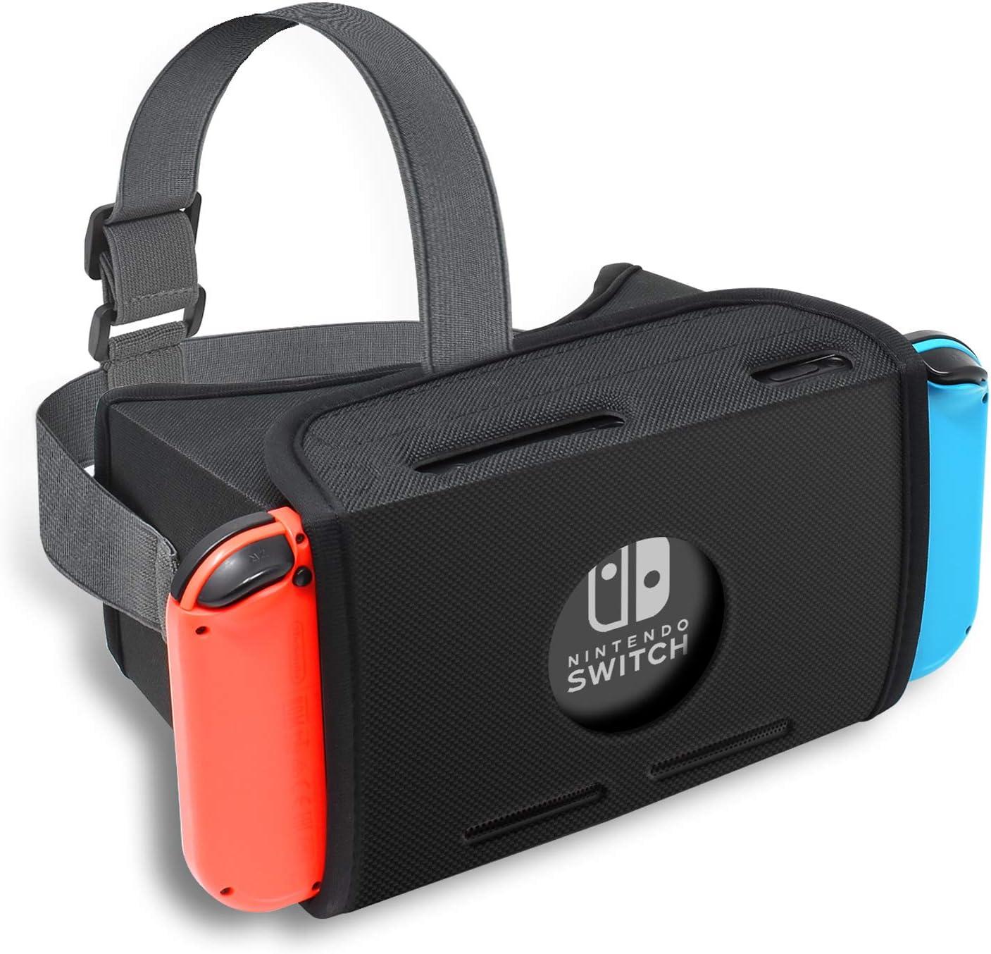 FYOUNG - Auriculares de Diadema para Nintendo Switch, Realidad Virtual HD para Super Smash Bros, Zelda y Super Mario Odyssey y Youtube: Amazon.es: Electrónica