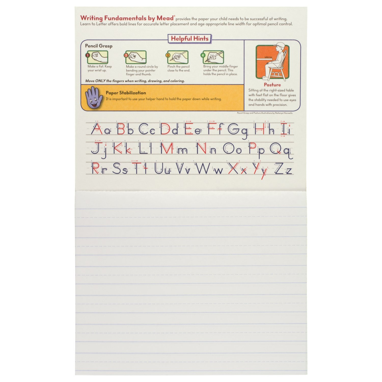 AmazonCom  Mead Learn To Letter Tablet PreK  St Grade Workbook