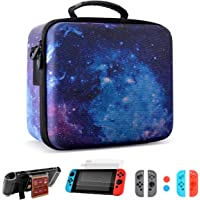 XCSOURCE Deluxe Travel Carrying Case for Nintendo Switch with 21 Card Inserts, Console & Accessories-Starry pattern
