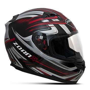 Zoan Blade Sv Reborn rojo negro Full Face calle motocicleta casco de equitación XL