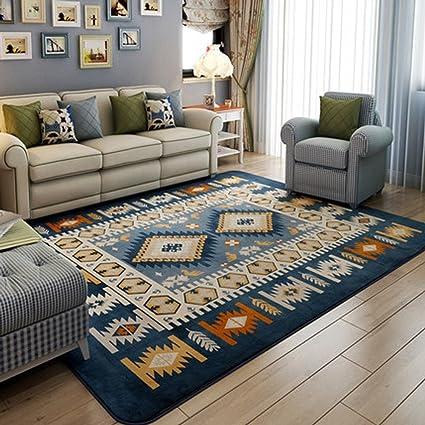 RUG LUYIASI- Tappeto soggiorno blu tavolino può essere lavato giù ...