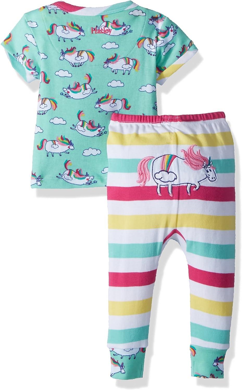 Hatley - Juego de mini pijama de manga corta de algodón orgánico para niñas - Azul - 9-12 meses: Amazon.es: Ropa y accesorios