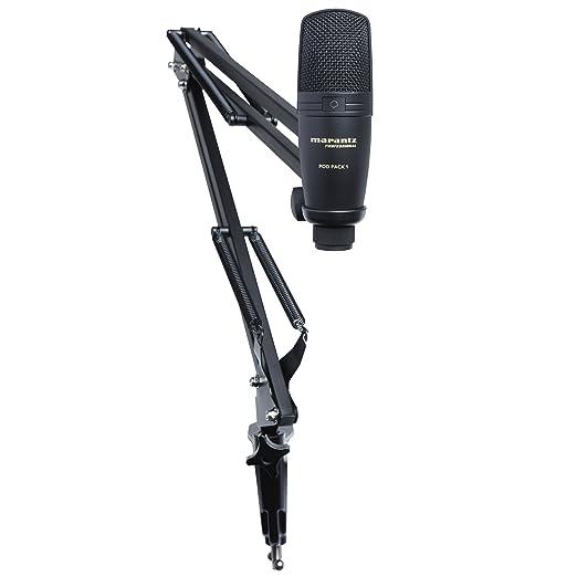 4 opinioni per Marantz Professional PodPack, Microfono a Condensatore USB con Supporto da