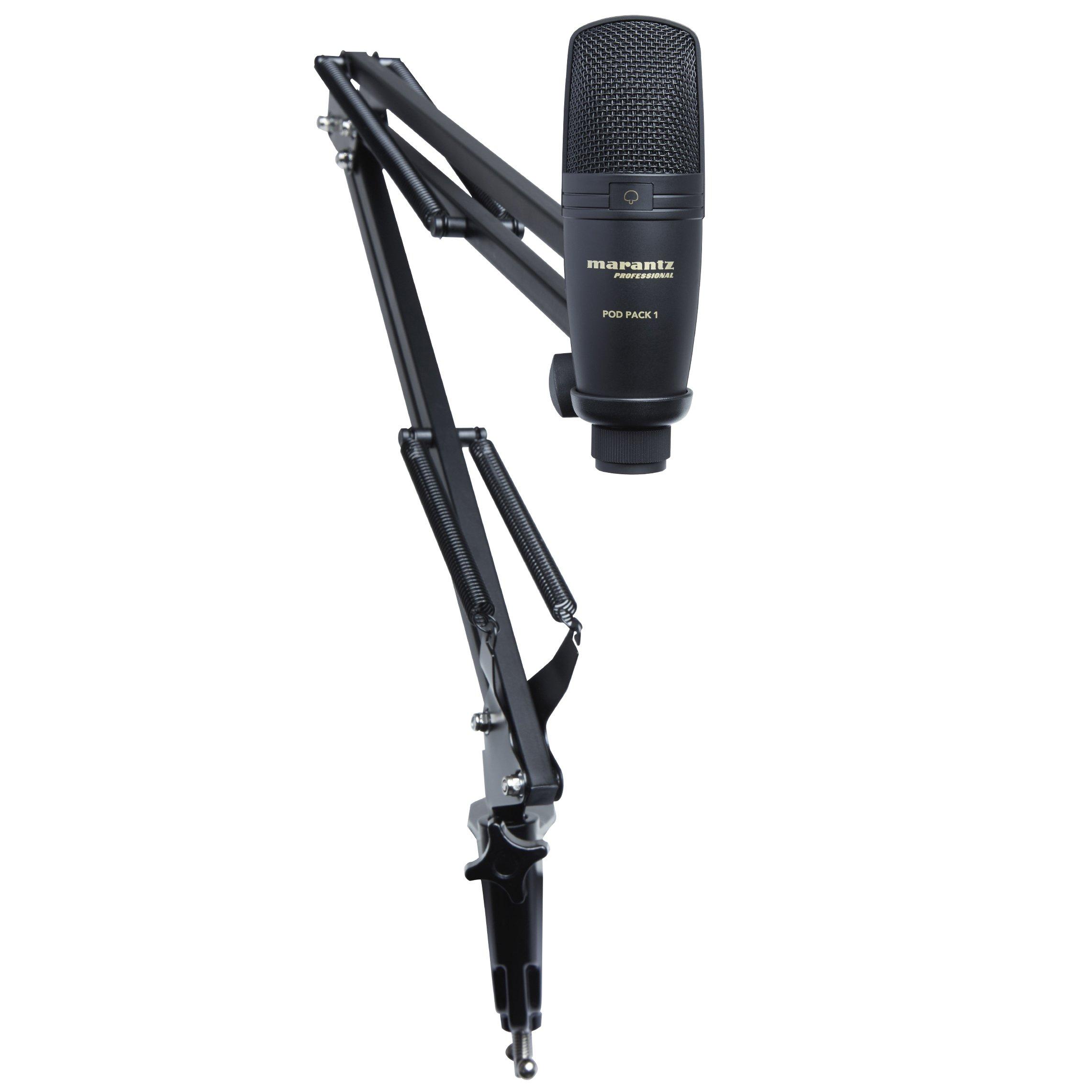 Marantz Professional Pod Pack 1 | Kit Completo De Podcasting Que Incluye Microfono De Condensador Usb Profesional, Sopor
