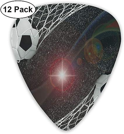 Selecciones de guitarra Balones de fútbol Concepto de éxito del partido de gol en el tema de gloria del ganador del espacio exterior, para guitarras eléctricas acústicas bajas-12 Pack: Amazon.es: Instrumentos musicales