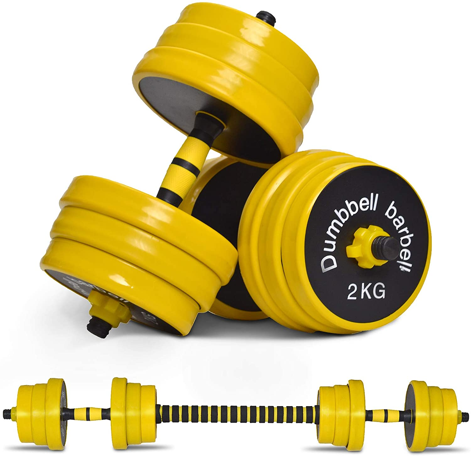 Nice C Adjustable Dumbbell Barbell 2-in-1 Set
